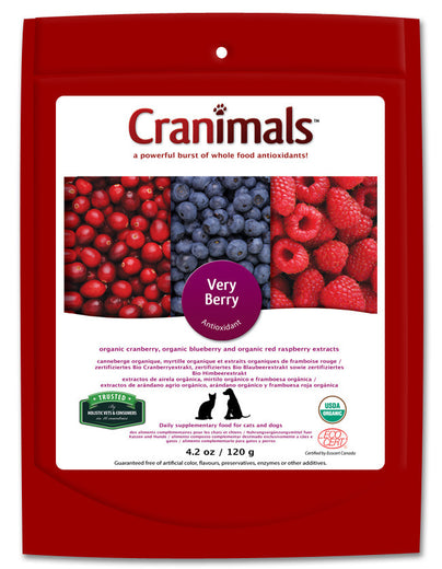 Cranimals Very Berry Antioxidant Supplement For Dogs & Cats 120g - Kohepets