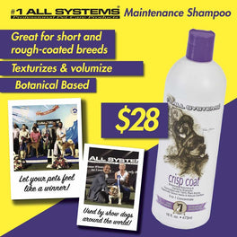 10% OFF WITH GIFT: #1 All Systems Crisp Coat Botanical Texturizing & Detoxifying Dog Shampoo