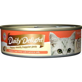Daily Delight Skipjack Tuna White with Carrot in Jelly Canned Cat Food 80g