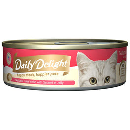 Daily Delight Skipjack Tuna White with Sasami in Jelly Canned Cat Food 80g