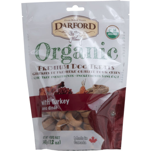 Darford Organic With Turkey Dog Treats 340g - Kohepets