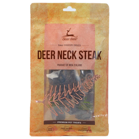 Dear Deer Freeze Dried Deer Neck Steak Dog & Cat Treat 100g - Kohepets