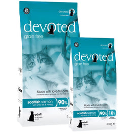 40% OFF 300g (Exp Nov 18) : Devoted Scottish Salmon With White Fish & Herring Grain Free Dry Cat Food