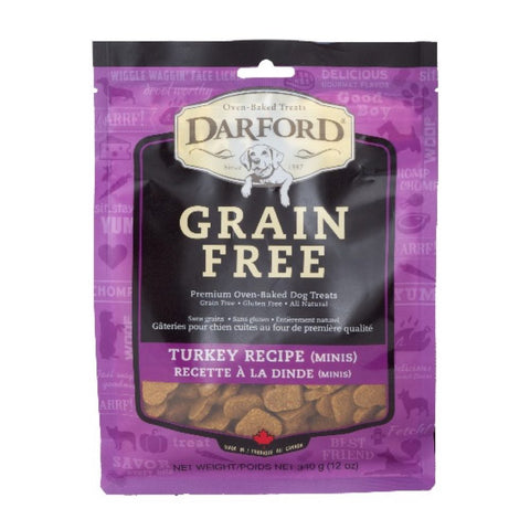 Darford Grain Free Turkey Recipe Minis Dog Treats 340g