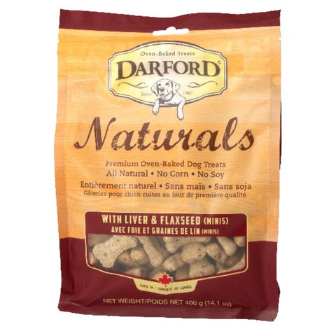 Darford Naturals Liver & Flaxseed Minis Oven Baked Dog Treats 400g