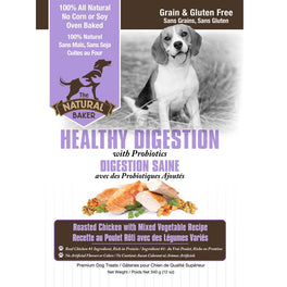 The Natural Baker Grain Free Healthy Digestion Dog Treats 340g