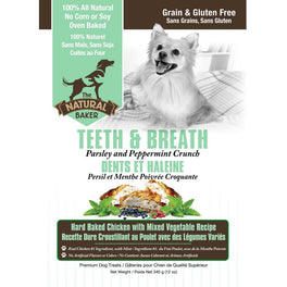 The Natural Baker Grain Free Teeth & Breath Dog Treats 340g