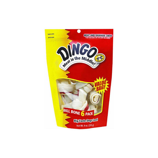 Dingo Mini Knotted Bones Rawhide Chews, 21-count