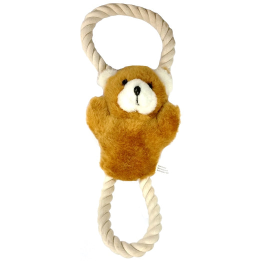 Dogit Luvz Plush Squeaky Bear with Rope Dog Toy - Kohepets