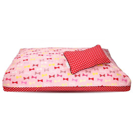 DreamCastle Natural Dog Bed (Red Ribbon)