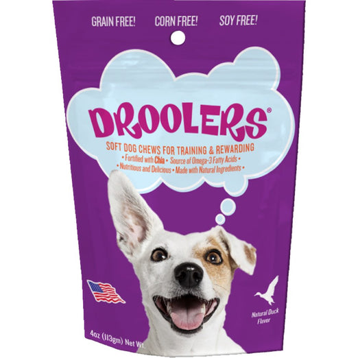 Droolers Duck Recipe Grain-Free Soft Dog Treats 113g - Kohepets