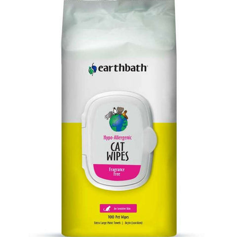 20% OFF: Earthbath Hypo-Allergenic Cat Wipes 100ct - Kohepets