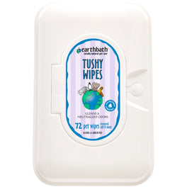 Earthbath Tushy Wipes For Pets 72ct