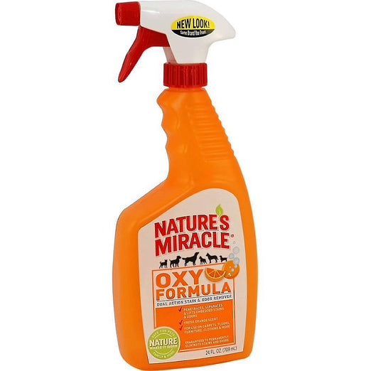 Nature's Miracle Dual-Action Oxy Orange Formula Stain & Odor Remover Spray 24oz