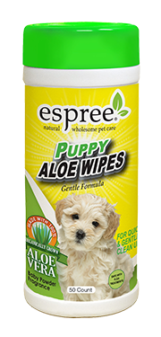 Espree Puppy Aloe Wipes 50ct