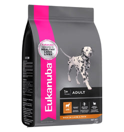 'FREE TREATS': Eukanuba Adult Lamb & Rice Dry Dog Food