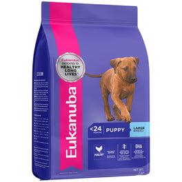 'FREE PATE': Eukanuba Puppy Large Breed Chicken Dry Dog Food