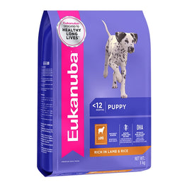 'FREE PATE': Eukanuba Puppy Lamb & Rice Dry Dog Food
