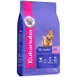 2 FREE Can Food: Eukanuba Puppy Small Breed Chicken Dry Dog Food