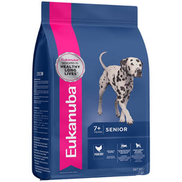 2 FREE Can Food: Eukanuba Senior Medium Breed Chicken Dry Dog Food