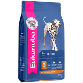 'FREE TREATS': Eukanuba Senior Lamb & Rice Dry Dog Food