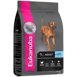 2 FREE Can Food: Eukanuba Adult Large Breed Chicken Dry Dog Food