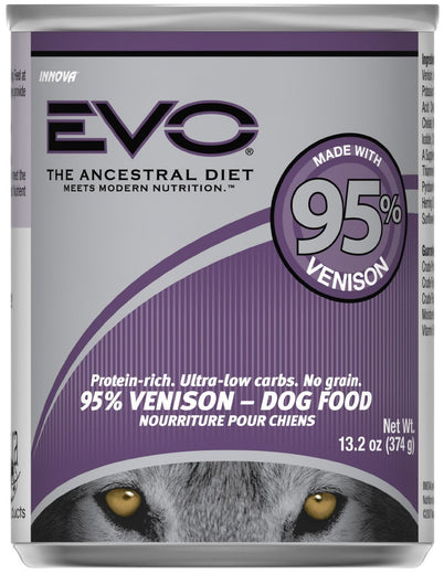 EVO 95% Venison Canned Dog Food 13.2oz