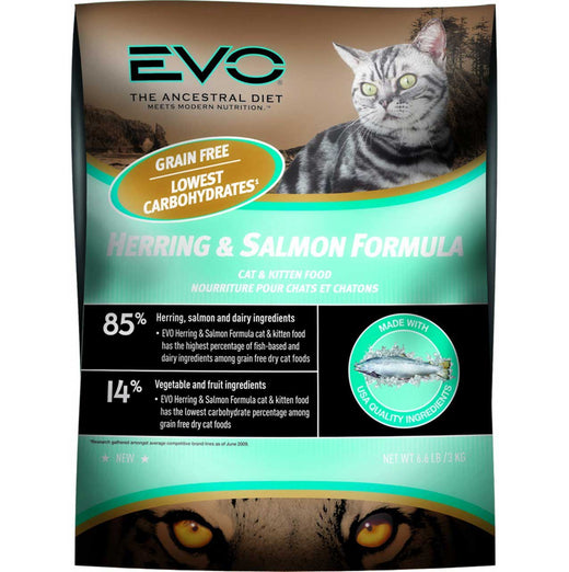 EVO Herring & Salmon Formula Dry Cat Food - Kohepets