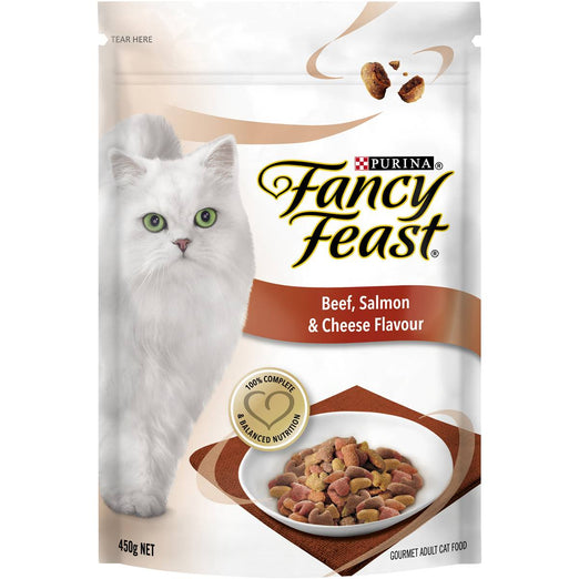 Fancy Feast Beef, Salmon & Cheese Flavour Adult Dry Cat Food 1.4kg