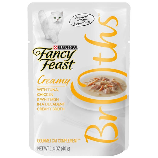 10% OFF: Fancy Feast Creamy Broths Tuna, Chicken & Whitefish Pouch Cat Food 40g - Kohepets