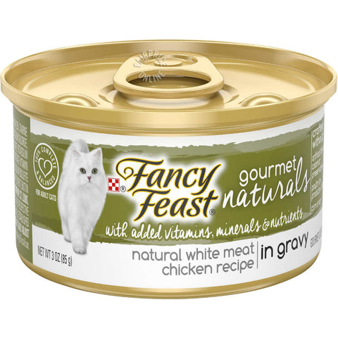 Fancy Feast Gourmet Naturals White Meat Chicken In GRAVY Adult Canned Cat Food 85g - Kohepets
