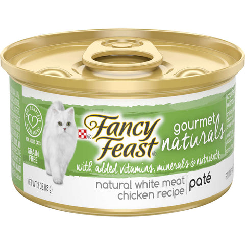 Fancy Feast Gourmet Naturals White Meat Chicken Pate Adult Canned Cat Food 85g - Kohepets