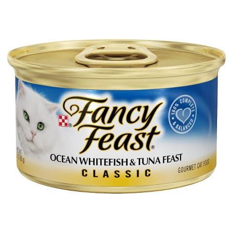 Fancy Feast Ocean Whitefish And Tuna Feast Canned Cat Food 85g