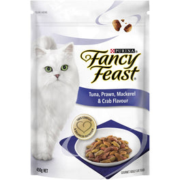 FREE TREATS: Fancy Feast Tuna, Prawn, Mackerel & Crab Flavour Adult Dry Cat Food 1.4kg