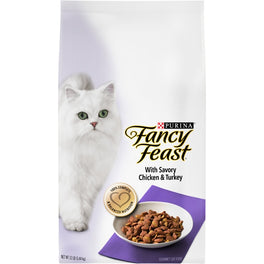 FREE TREATS: Fancy Feast with Savory Chicken & Turkey Dry Cat Food 3lb