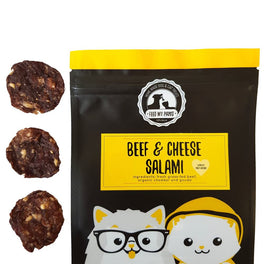 Feed My Paws Beef & Cheese Salami Cat & Dog Treats 70g