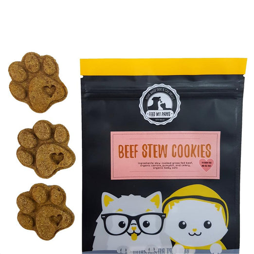 Feed My Paws Beef Stew Cookies Cat & Dog Treats 100g - Kohepets