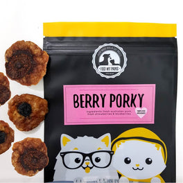 Feed My Paws Berry Porky Cat & Dog Treats 70g