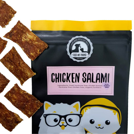 Feed My Paws Chicken Salami Cat & Dog Treats 70g