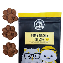 Feed My Paws Honey Chicken Cookies Cat & Dog Treats 100g