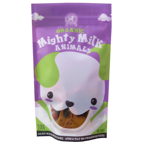Feed My Paws Mighty Milk Superfood Animals Cookies Dog Treats 100g