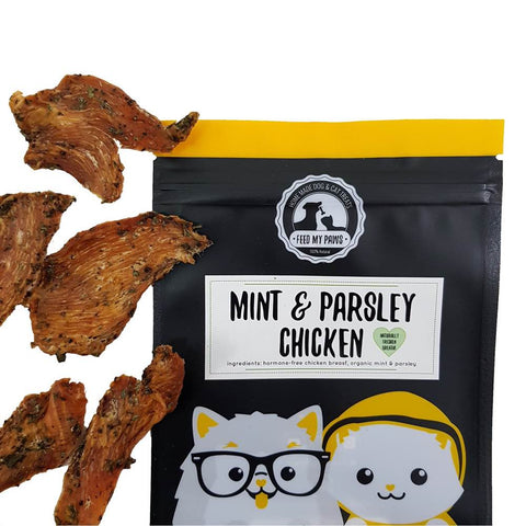 Feed My Paws Mint & Parsley Chicken Cat & Dog Treats 70g - Kohepets
