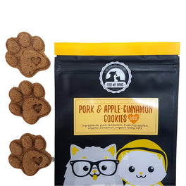 Feed My Paws Pork & Apple-Cinnamon Cookies Cat & Dog Treats 100g