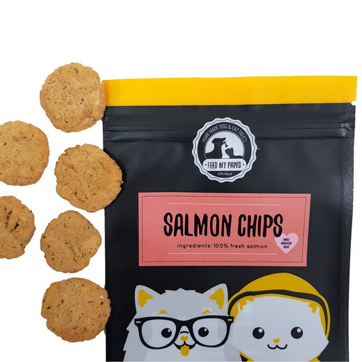 Feed My Paws Salmon Chips Cat & Dog Treats 60g