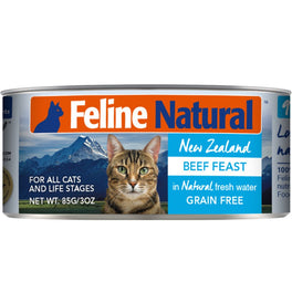 Feline Natural Beef Feast Grain-Free Canned Cat Food 85g