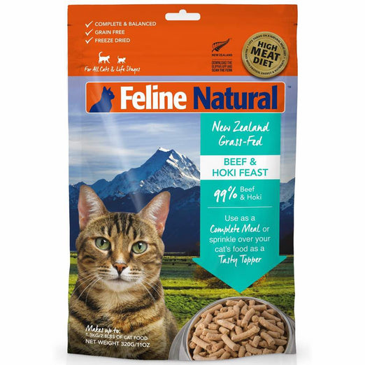 Feline Natural Beef & Hoki Feast Freeze Dried Raw Cat Food - Kohepets