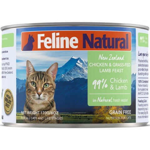 Feline Natural Chicken & Lamb Feast Canned Cat Food 170g