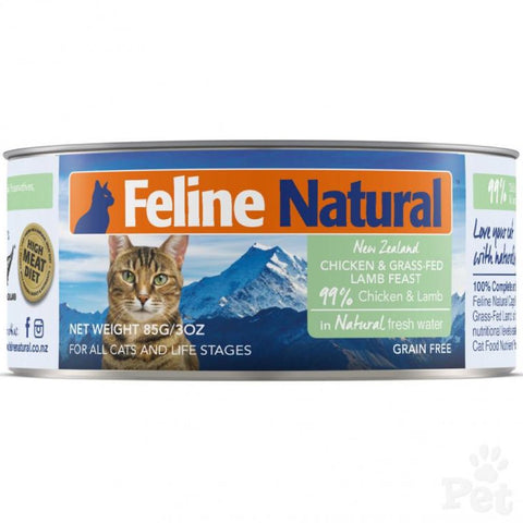 Feline Natural Chicken & Lamb Feast Canned Cat Food 85g