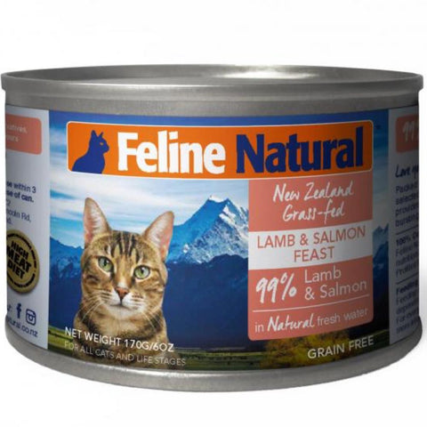 Feline Natural Lamb & Salmon Feast Canned Cat Food 170g