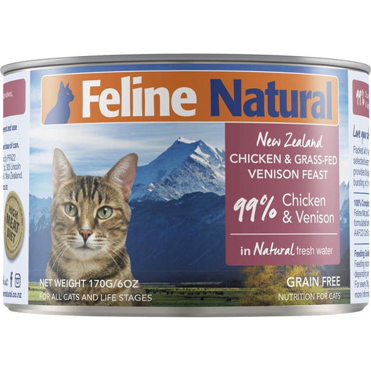 Feline Natural Chicken & Venison Feast Canned Cat Food 170g